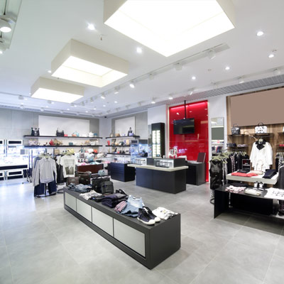 clothes retail shop LED installation