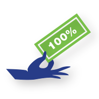 hand icon showing savings