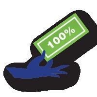 hand icon showing savings
