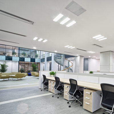 modern office led lighting bright