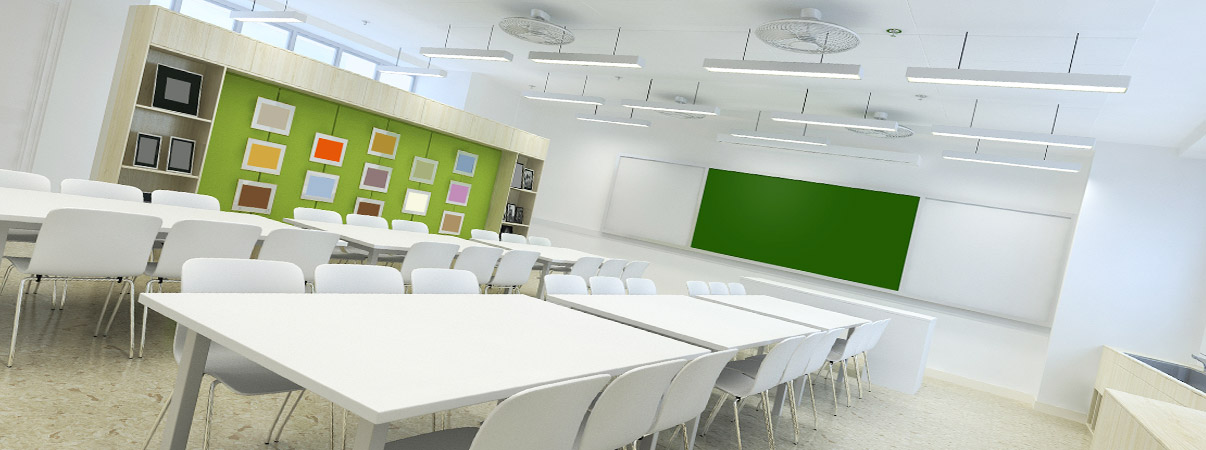classroom led lighting supplied