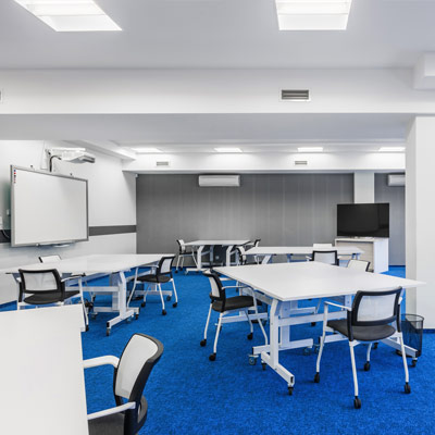 school classroom lighting after led installation